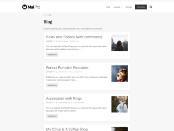 Archive with medium content width, no columns, and thumbnail image aligned right.