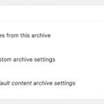 Mai Archive Settings