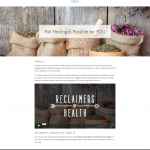 Reclaimers Of Health Landing Page Template
